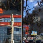 Foto: Cum arată centrul comercial de pe strada Izmail după incendiu?