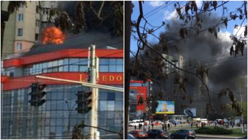 Cum arată centrul comercial de pe strada Izmail după incendiu?