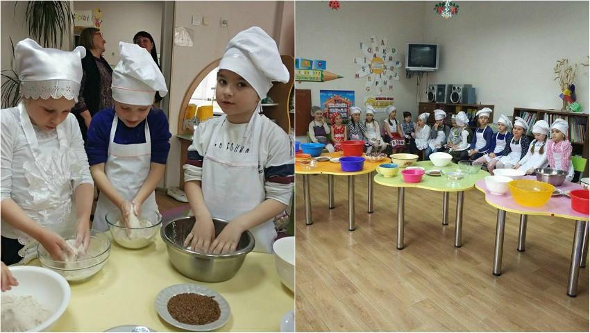 Foto: Copiii de la grădinița nr. 196 au gătit pâine cu semințe