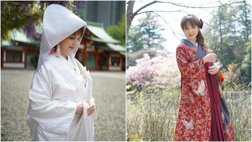 Moldoveanca Elena Iovu s-a măritat în Japonia. Imagini de la nuntă
