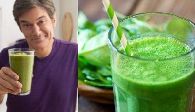 Dr. Oz a dezvăluit rețeta de suc verde care ajută la hidratare și detoxifiere