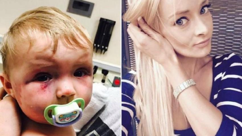 Foto: O mamă și-a bătut crunt bebelușul în vârstă de 5 luni, într-un acces de furie