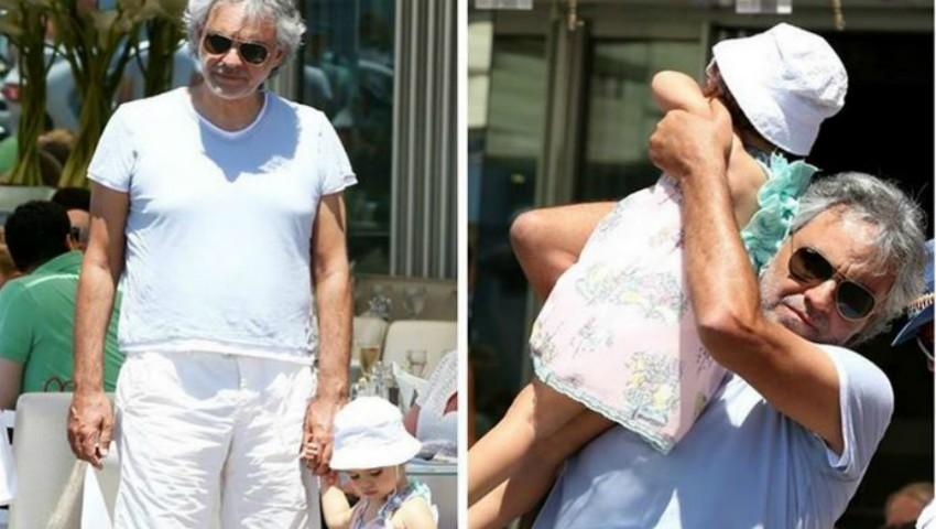 Foto: Cum a fost surprins Andrea Bocelli, în vacanța din Italia?