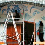 Foto: Un artist plastic moldovean a pictat Capela Reingers din Austria