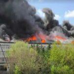 Foto: Institutul de Microbiologie al AȘM: flăcările au afectat o suprafaţă de peste 1000 de metri pătraţi. Imagini după dezastru!