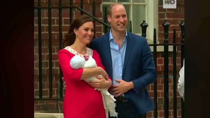 Video. Ducesa de Cambridge s-a externat împreună cu bebelușul născut în urmă cu câteva ore!