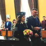 Foto: Nuntă la graniță! O polițistă moldoveancă s-a căsătorit cu polițistul de frontieră român