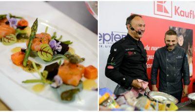 În premieră la Chișinău! Zeci de gurmanzi au venit la show-ul culinar al renumitului bucătar BBC, Alan Coxon, la standul Kaufland