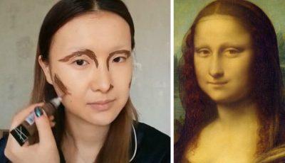 Video! Asemănare incredibilă. Un vlogger din China s-a transformat în Mona Lisa