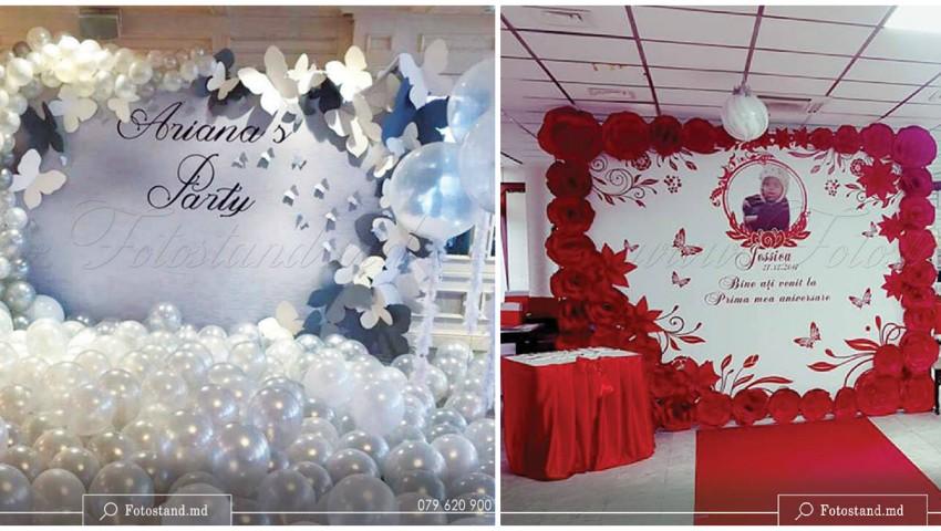 Foto: Fotopanou cu baloane – decor pentru cumetrie, nuntă, botez, zi de naștere și aniversare