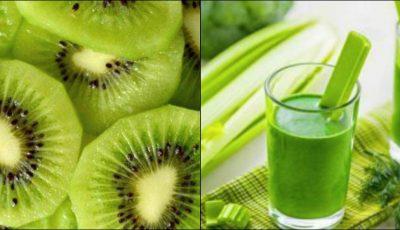 Smoothie de kiwi cu țelină, o băutură benefică pentru îmbunătățirea vederii și funcțiilor rinichilor
