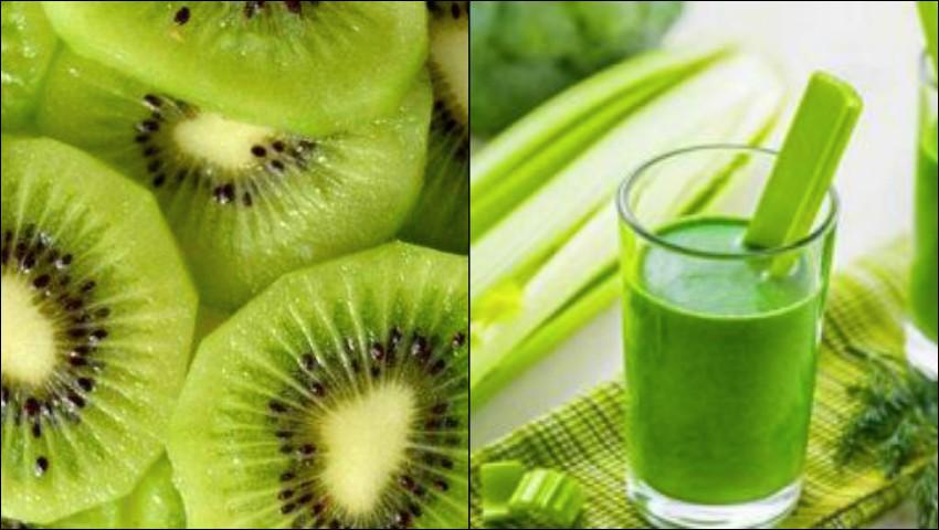Foto: Smoothie de kiwi cu țelină, o băutură benefică pentru îmbunătățirea vederii și funcțiilor rinichilor