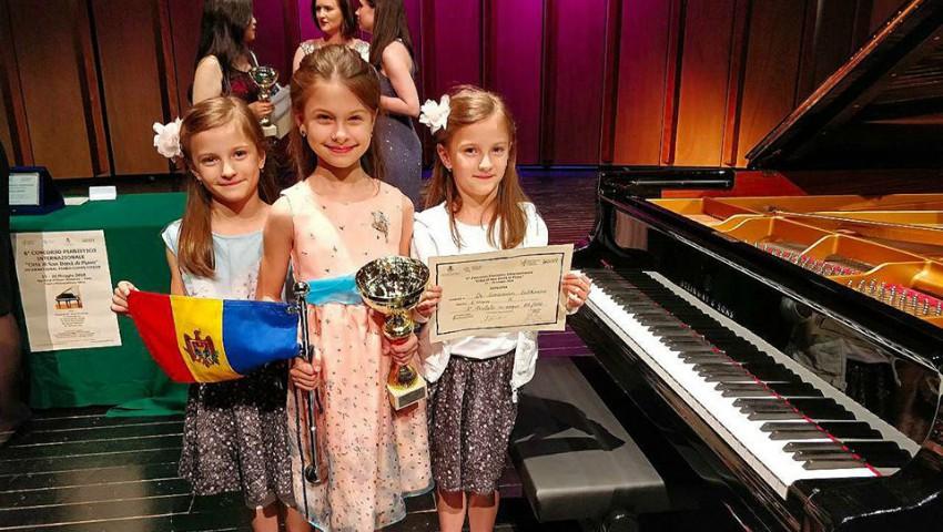 Foto: O mică pianistă din Chișinău a câștigat locul 1 la un prestigios concurs de muzică din Italia