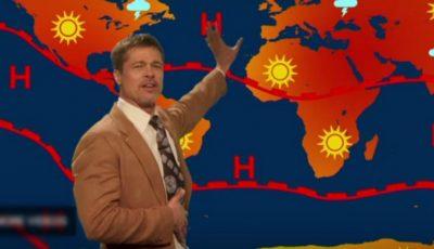 Brad Pitt s-a făcut prezentator de meteo. Video!