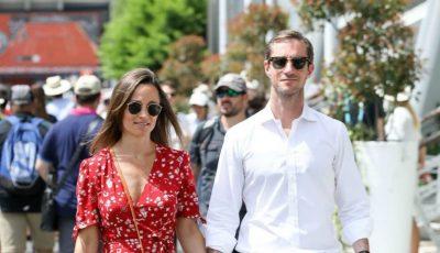 Pippa Middleton, surprinsă cu burtica de gravidă alături de soțul ei. Foto!