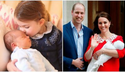 Primele imagini cu Prințul Louis alături de sora sa, Prințesa Charlotte
