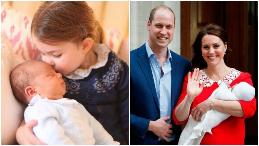 Foto: Primele imagini cu Prințul Louis alături de sora sa, Prințesa Charlotte