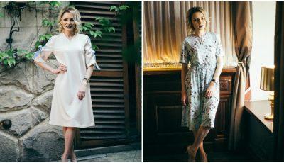 Gingașă și feminină! Ilinca Avram poartă rochii în stilul anilor '50 din noua colecție Fantasy by Tatiana
