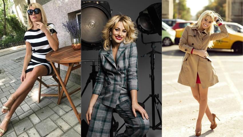 Foto: Natalia Gordienko își vinde hainele la târg!