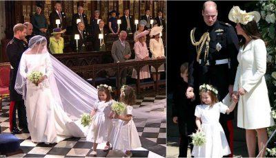 Charlotte a fost domnișoară de onoare la nunta Prințului Harry. Ce ținută a purtat Kate Middleton?