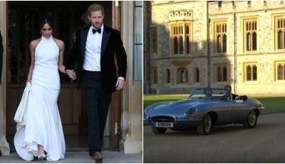 Video! Vezi ce rochie a purtat Meghan Markle la recepția privată de seară, organizată în cinstea mirilor de către Prințul Charles