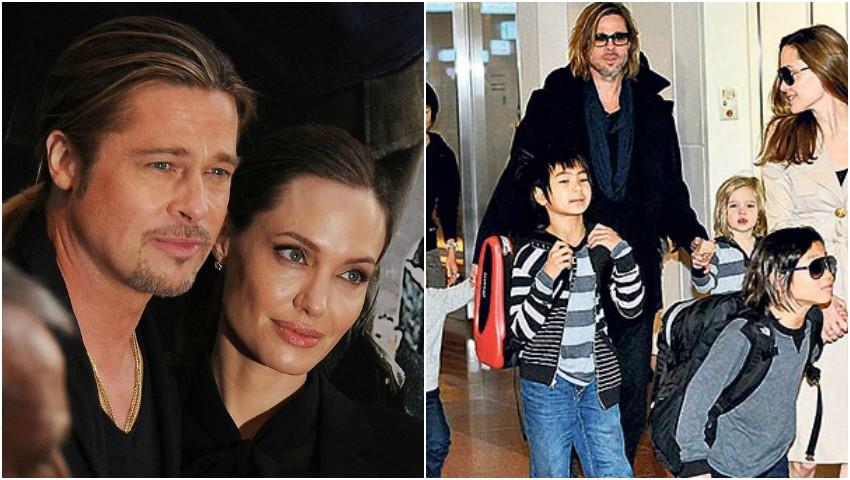 Foto: Angelina Jolie vrea să plece din țară împreună cu cei șase copii