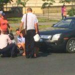 Foto: Accident în Capitală. O femeie a fost lovită pe trecerea de pietoni