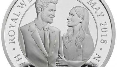 O monedă specială a fost lansată cu ocazia nunții prințului Harry cu Meghan Markle