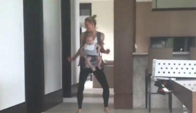 Video! Anna Kournikova dansează împreuna cu fiica ei de 5 luni. Ce adorabile sunt cele două!
