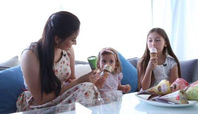 Corina Țepeș împreună cu fiicele ei, despre gustul copilăriei