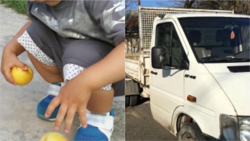 Foto: Caz cutremurător în raionul Orhei! Un băiețel de 2 ani a călcat cu mașina o fetiță de 4 ani. Copiii se jucau în curte