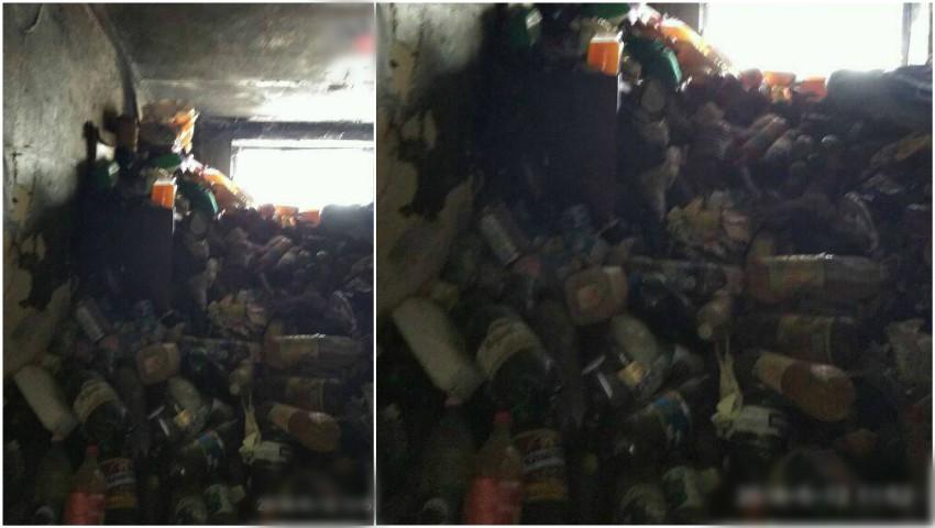 Imagini șocante. Un locuitor din raionul Anenii Noi și-a transformat apartamentul într-un morman de gunoaie
