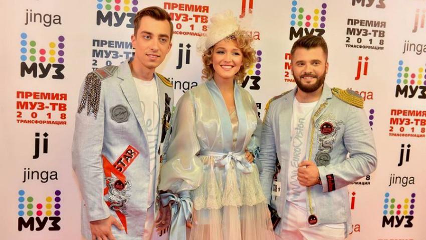 Foto: Trupa DoReDos, pe covorul roșu la Premiile Muz TV de la Moscova