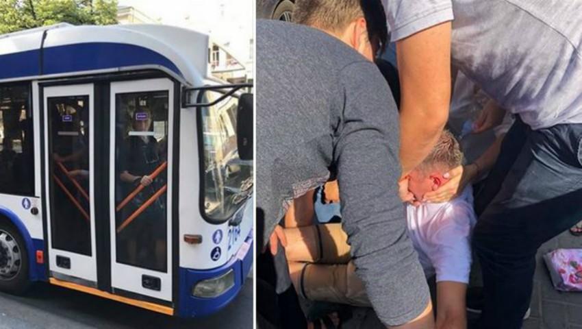 Foto: Un bărbat era cât pe ce să moară sufocat, în troleibuz