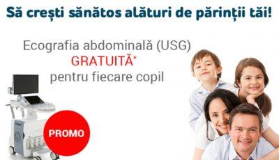 """Examen ecografic gratuit pentru copii! Invitro Diagnostics lansează promoția """"Să crești sănătos alături de părinții tăi"""""""