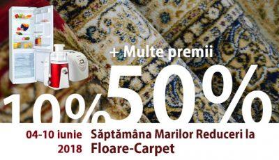 """Târg de covoare: """"Săptămâna Marilor Reduceri la Floare-Carpet """"!"""