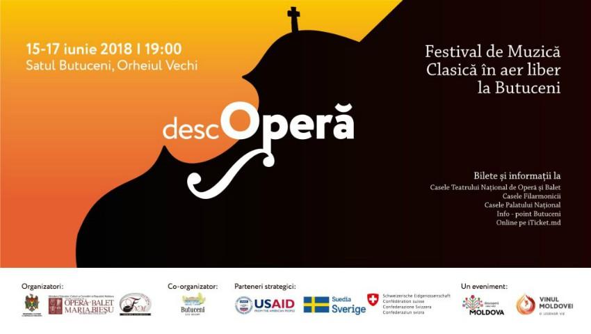 Foto: DescOPERĂ – Festivalul de muzică clasică în aer liber revine la Orheiul Vechi. Vezi programul evenimentului!