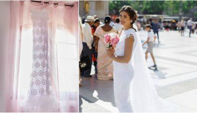 Fabulos! O tânără din Hâncești și-a croșetat singură rochia de mireasă