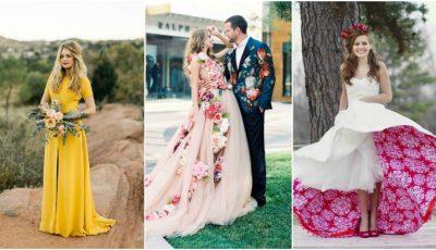 Rochii de mireasă care nu sunt albe. Ți-ai dori așa ceva la nunta ta?