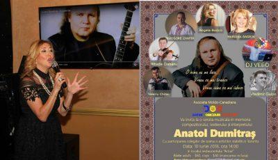 Se împlinesc 2 ani de la trecerea în neființă a interpretului Anatol Dumitraș. Artistul a fost comemorat de către moldovenii din Canada