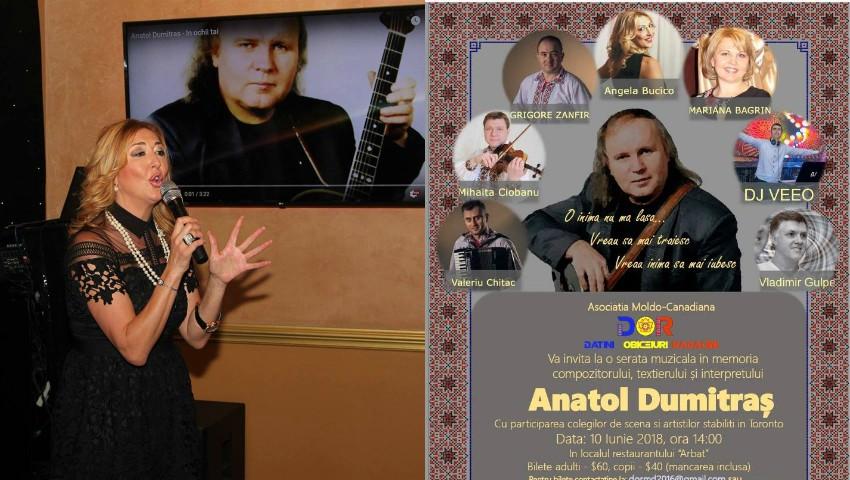 Foto: Se împlinesc 2 ani de la trecerea în neființă a interpretului Anatol Dumitraș. Artistul a fost comemorat de către moldovenii din Canada