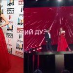 Foto: Miss Rusia 2018 a purtat rochia unui designer moldovean la decernarea Premiilor Muz TV