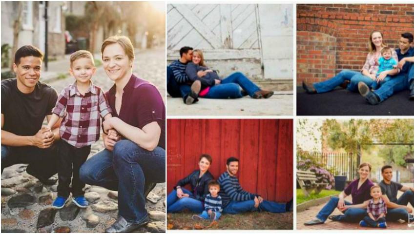 Foto: Un cuplu a divorțat demult, dar în fiecare an se întâlnesc și fac o poză de familie