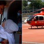 Foto: Un copil de 6 luni din Capitală a fost transportat la București, cu un echipaj SMURD