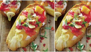 Bruschete cu ardei copți și usturoi – un aperitiv rapid când ai invitați la masă