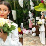 Foto: Bloggerița Hellen Monroe și judocanul Valeriu Duminică au sărbătorit un an de la cununie în Miami!