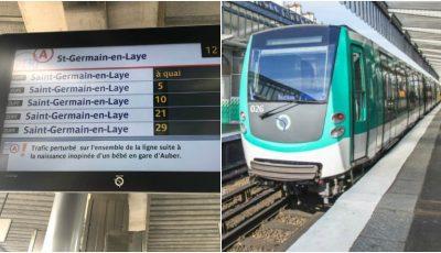 Un bebeluș s-a născut în tren, în centrul Parisului. Traficul a fost întrerupt timp de 45 de minute