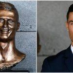 Foto: Cristiano Ronaldo are un nou bust pe Aeroportul din Madeira