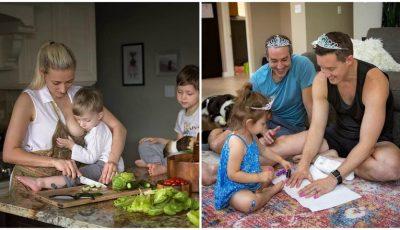 Un fotograf a surprins viața cu copii așa cum este ea, de fapt. Imaginile au devenit virale!
