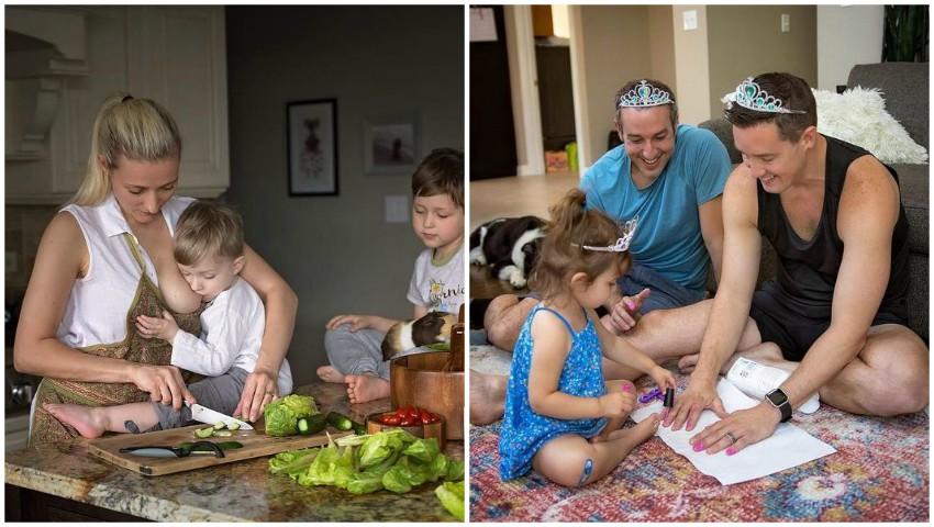 Foto: Un fotograf a surprins viața cu copii așa cum este ea, de fapt. Imaginile au devenit virale!